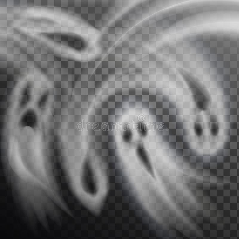 Geist-Vektor-Illustrations-transparenter Hintergrund stock abbildung