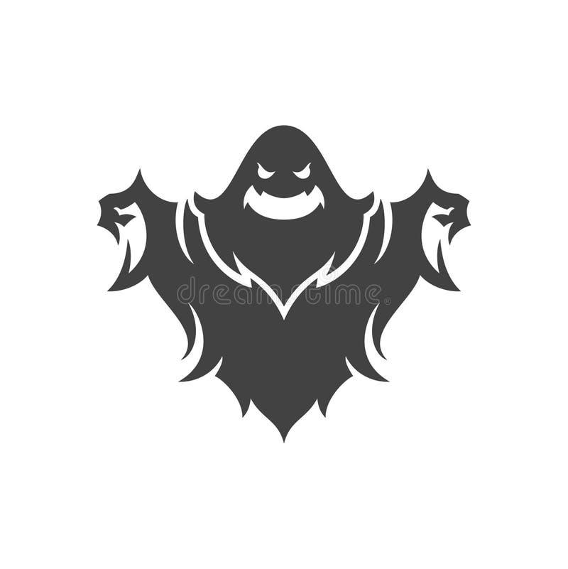 Geist-Vektorillustration Halloweens furchtsame stockfotos