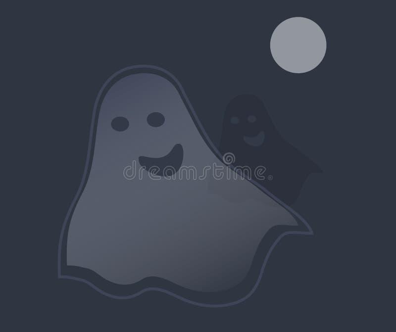 Geister vector in der Nacht vektor abbildung