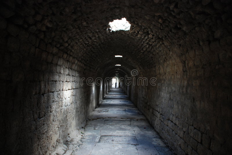 Geistesasyl in den Pergamon-Ruinen stockbilder