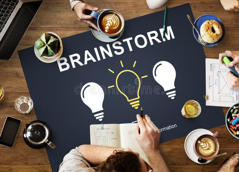 Geistesblitz-kreative Ideen-Diskussions-denkendes Konzept lizenzfreies stockbild