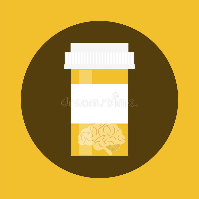 Geisteskrankheits-Ikonensatz lizenzfreie abbildung