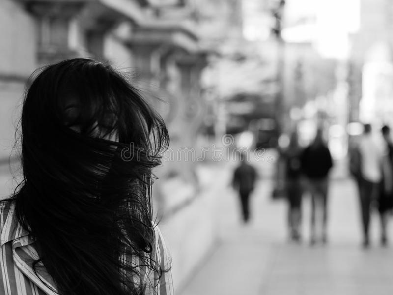 Geistesstörungen/Albtraum/Sozialproblemkonzepte lizenzfreie stockbilder