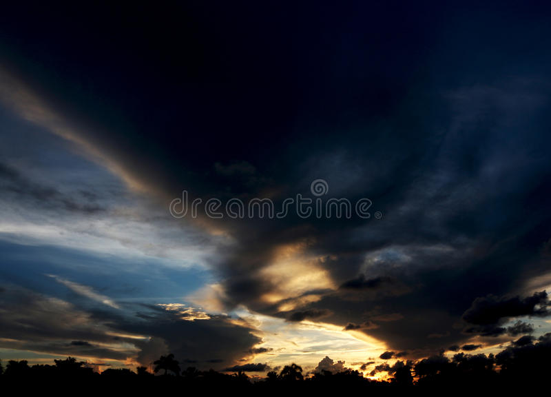 Geistfahrt im Himmel stockfoto