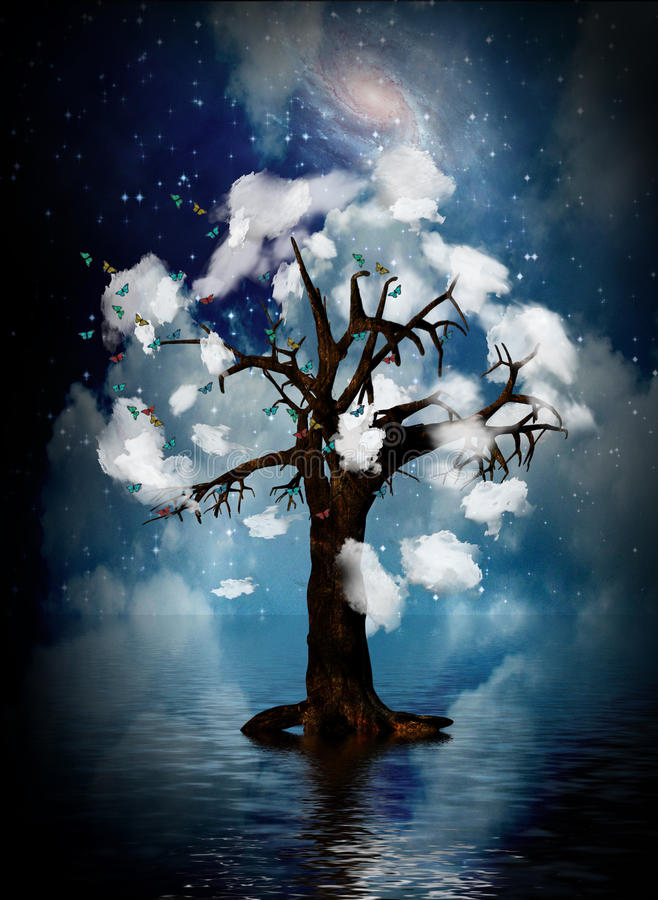 Geistiger Baum lizenzfreie abbildung