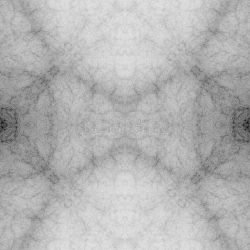 Geistiger nachdenklicher Hintergrund der weißen abstrakten Symmetrie stock abbildung