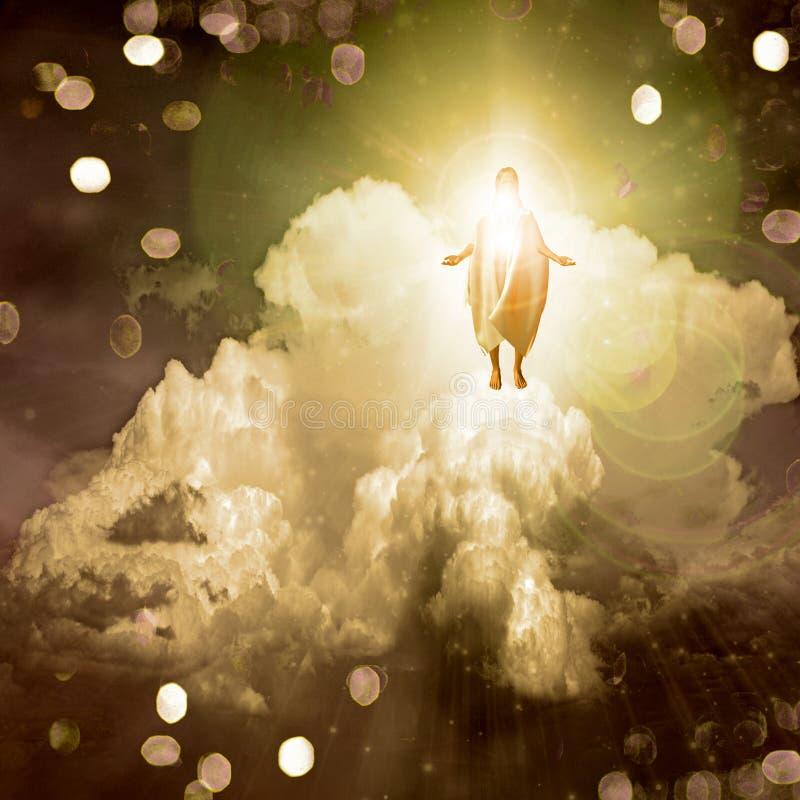Geistiges Licht lizenzfreie abbildung