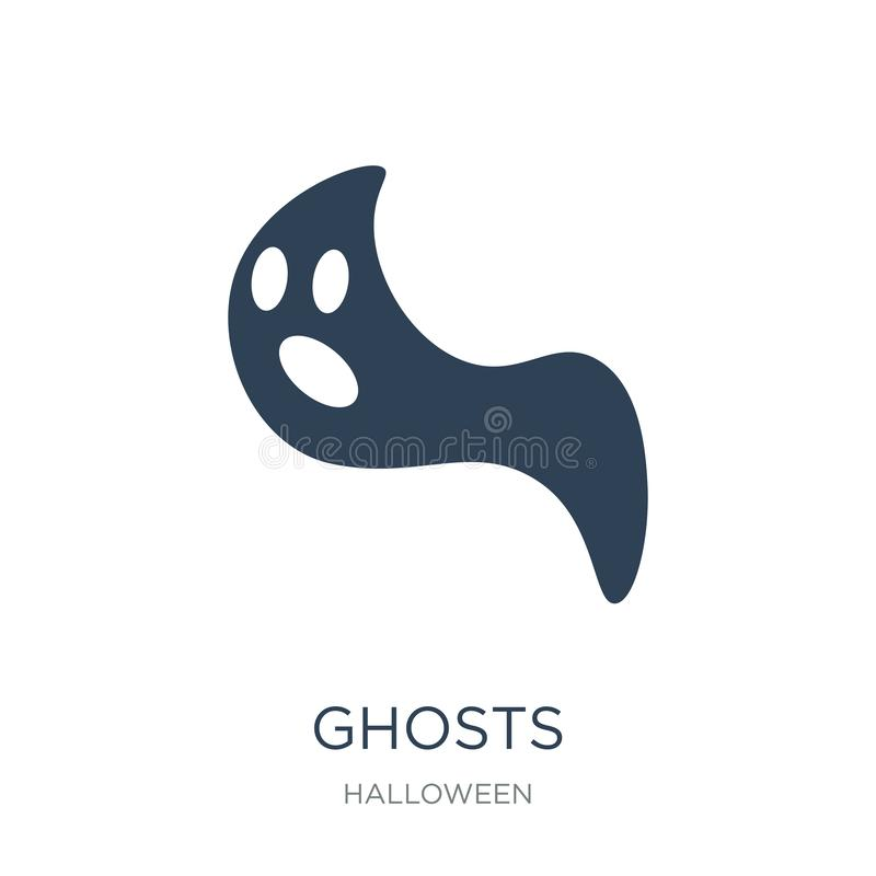 Geistikone in der modischen Entwurfsart Geistikone lokalisiert auf weißem Hintergrund einfaches und modernes flaches Symbol der G vektor abbildung