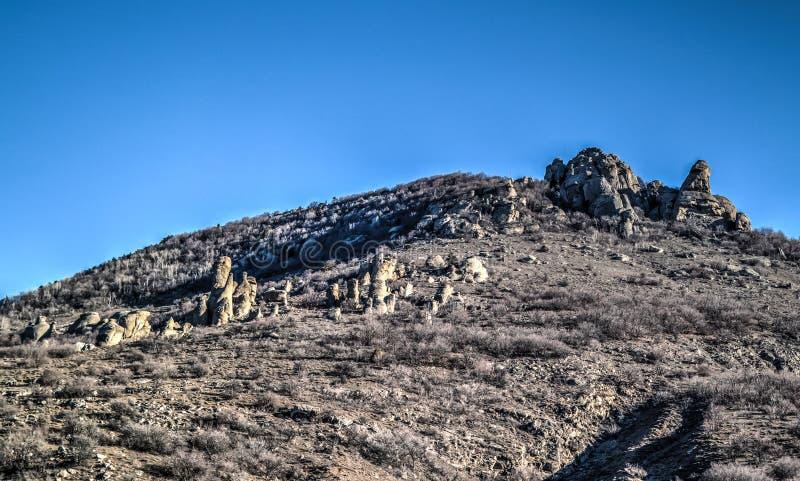 Geisttallandschaft und Demirji-Berg Krim lizenzfreies stockfoto