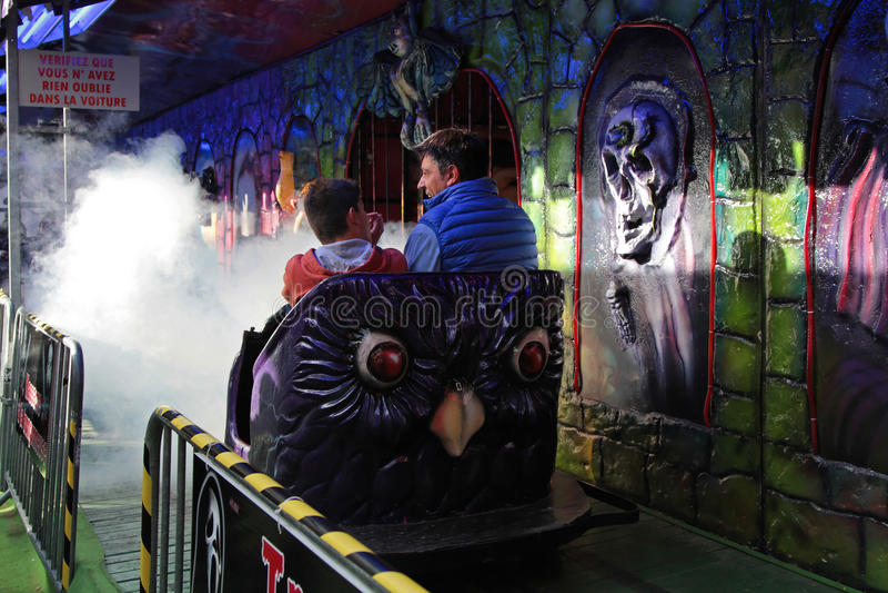 Geistzug im Funfair lizenzfreies stockfoto