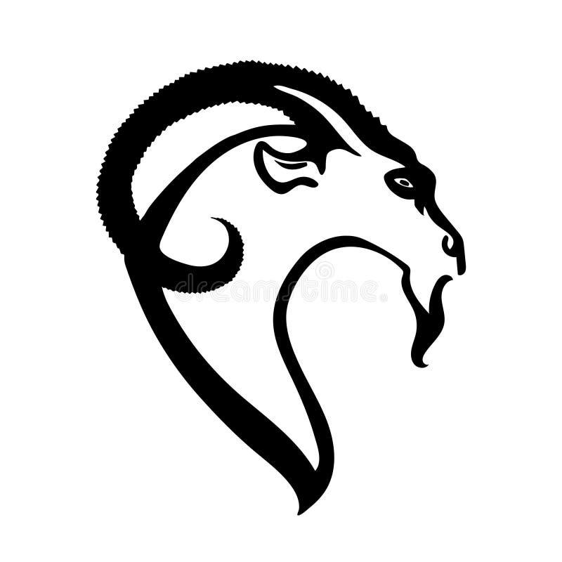Geithoofd Silhouet als embleem of mascotte Vector beeld vector illustratie