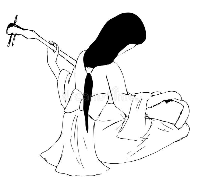 gejsza royalty ilustracja