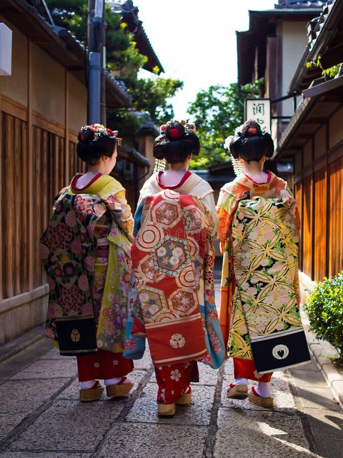 Gejsza @ Gion, Kyoto, Japonia obraz royalty free