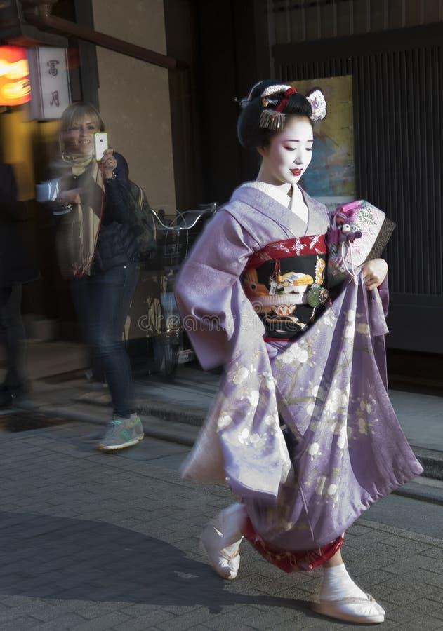 Gejsza w Kyoto, Japonia obraz stock