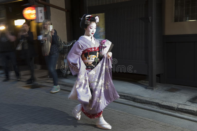 Gejsza w Kyoto, Japonia obrazy royalty free