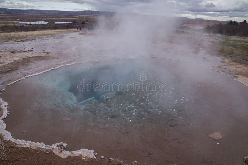 Gejzer dziura, Iceland zdjęcie stock