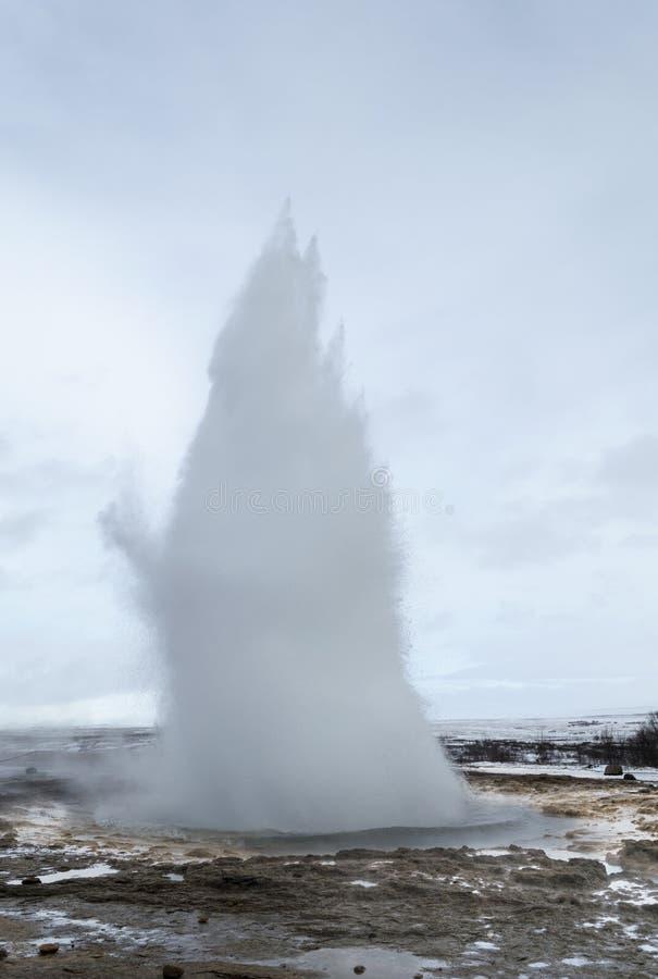 Gejzer Iceland fotografia stock