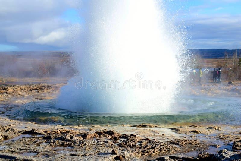 Gejzer w Iceland obrazy stock