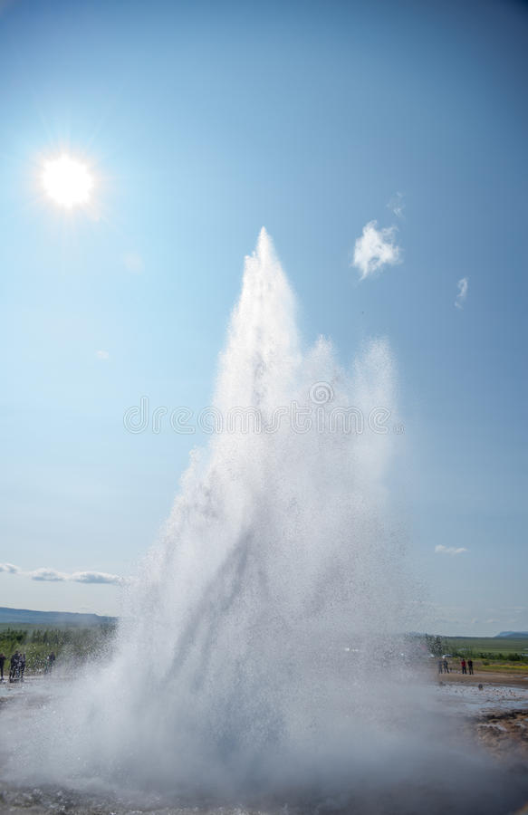 Gejzer w Iceland fotografia stock