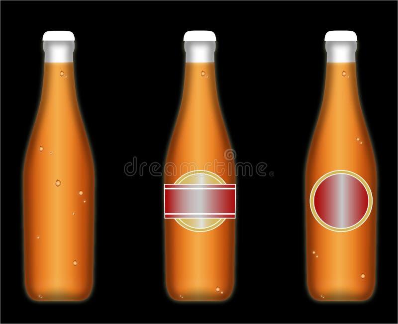 Gekühlte Bierflaschen vektor abbildung
