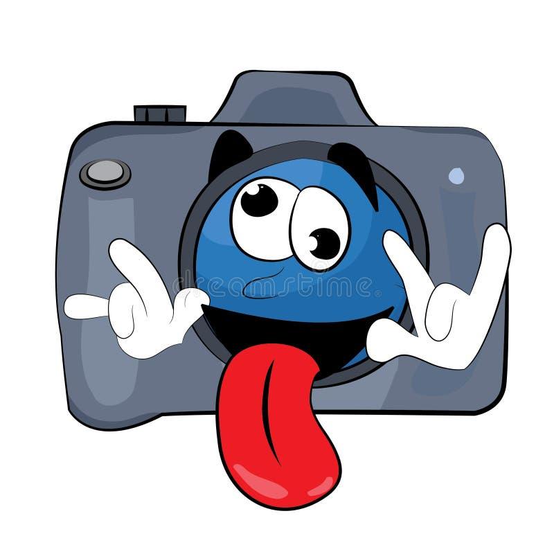Gek Camerabeeldverhaal vector illustratie