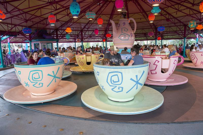 Gek Tea Party, Disney World, Reis, Magisch Koninkrijk stock afbeelding