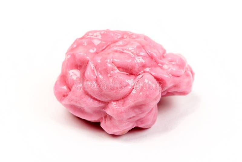 Gekauwde roze kauwgom stock afbeeldingen