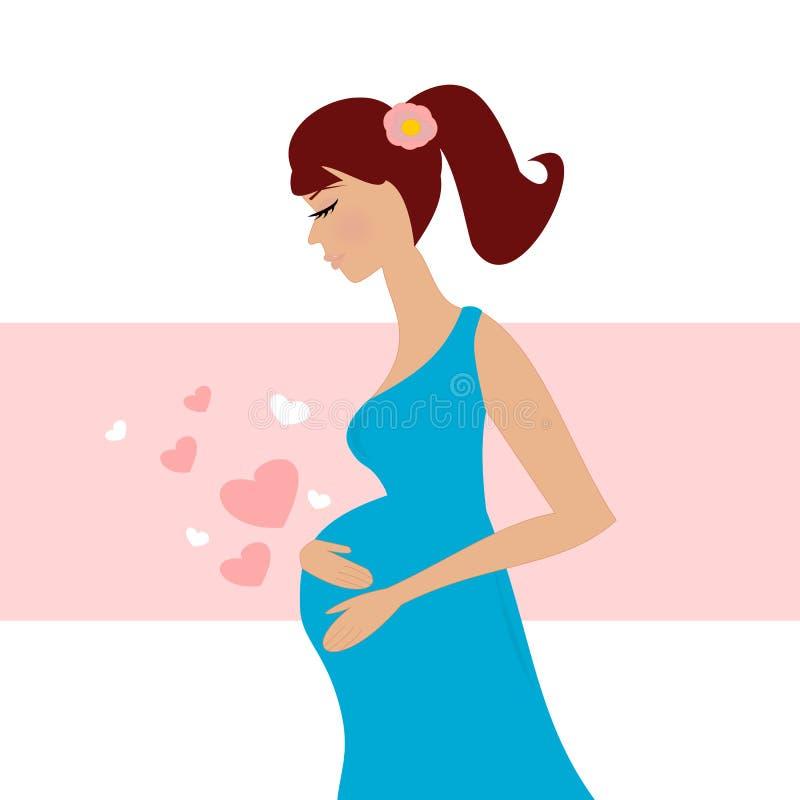 Gekenmerkt zwanger meisje vector illustratie