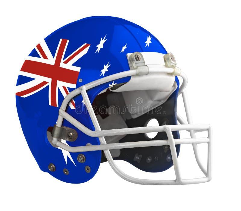 Gekennzeichneter Australien-Amerikanerfootball-helm lizenzfreie stockfotografie