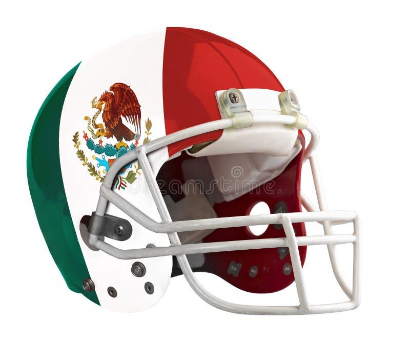 Gekennzeichneter Mexiko-Amerikanerfootball-helm lizenzfreie stockbilder