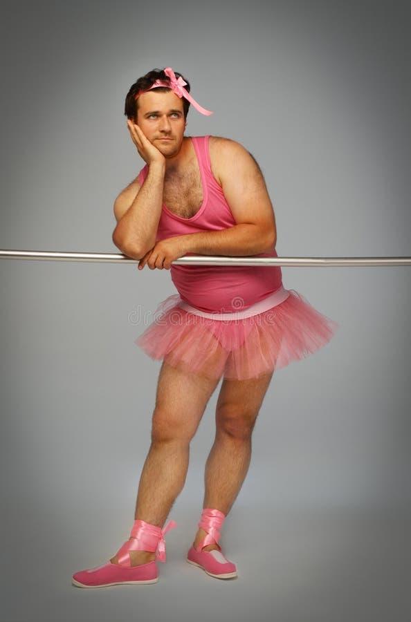 Gekke ballerina royalty-vrije stock foto