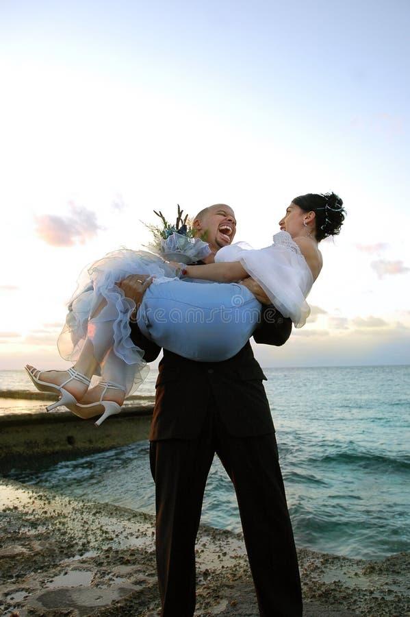 Gekke bruidegom royalty-vrije stock fotografie