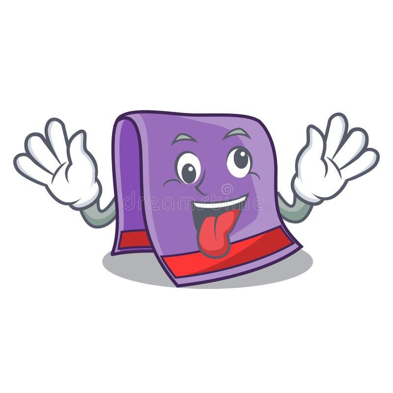 Gekke handdoek voor badmascotte vector illustratie