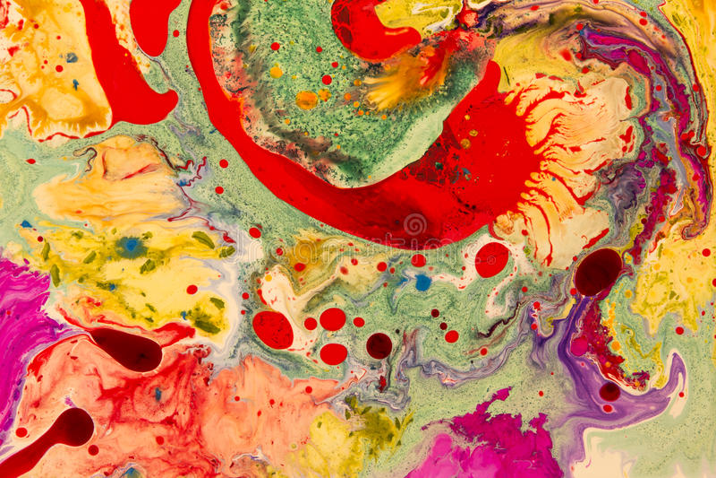 Gekke Kleuren Vormen en vormen Vloeibaar art. royalty-vrije stock afbeelding