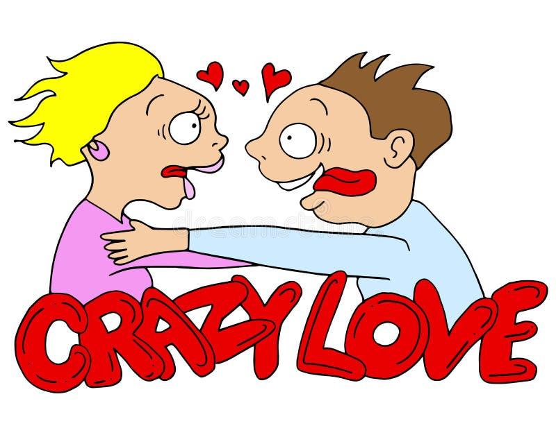 Gekke Liefdemensen stock illustratie