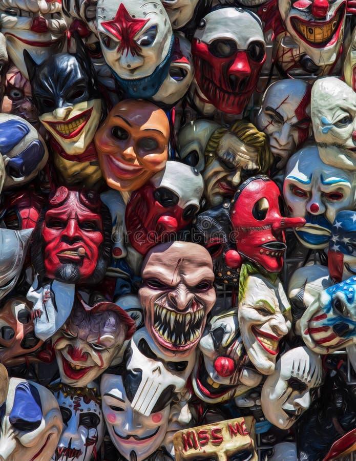 Gekke Maskers stock foto's