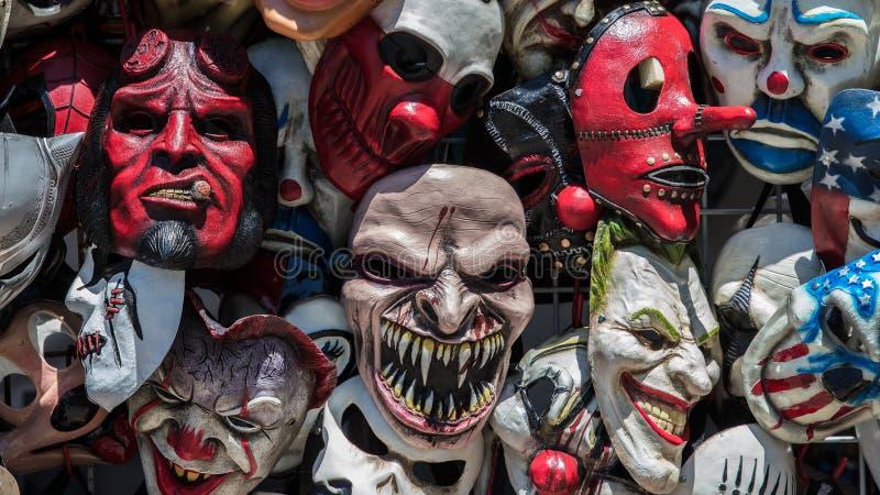 Gekke Maskers stock afbeelding