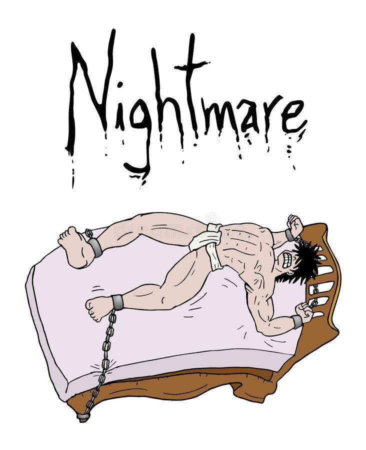 Gekke nachtmerrieillustratie royalty-vrije illustratie