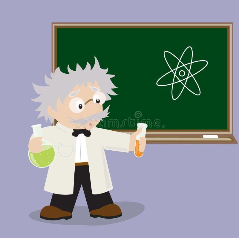 Gekke professor vector illustratie