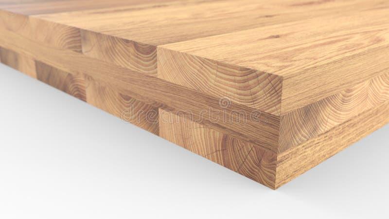 Geklebte hölzerne Struktur Holzen Sie industrielle hölzerne Beschaffenheit, Bauholzkolbenhintergrund ab Kolbenende eines verarbei vektor abbildung
