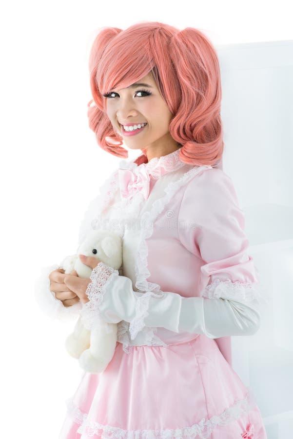 Gekleed voor cosplay stock fotografie