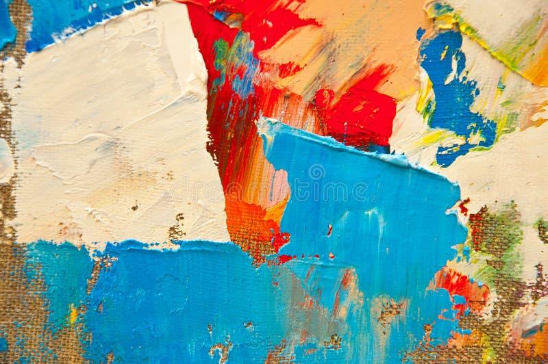Gekleurd Canvas stock fotografie