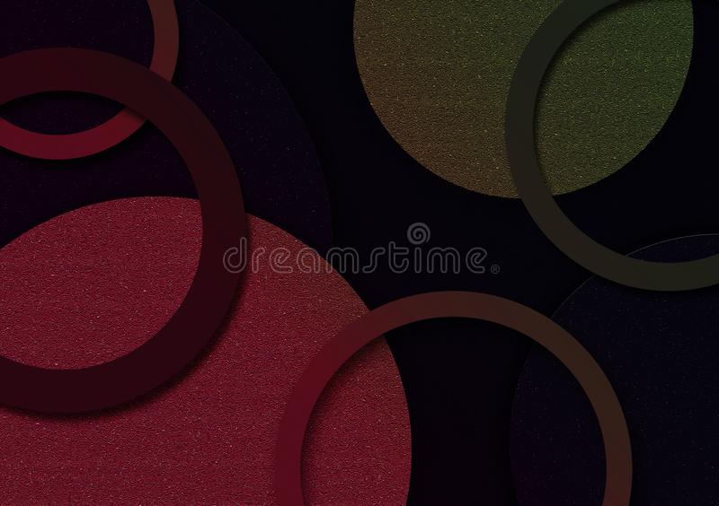 Gekleurd cirkel gestalte gegeven ontwerp als achtergrond voor behang royalty-vrije illustratie