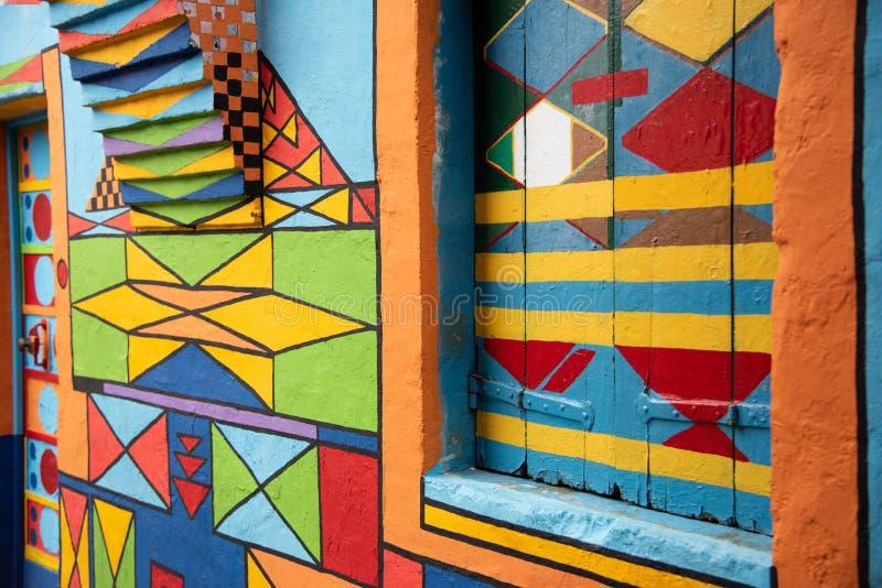 Gekleurd deur 'Casa DE Bepi 'huis op het Eiland Burano, Venetië, Italië stock foto