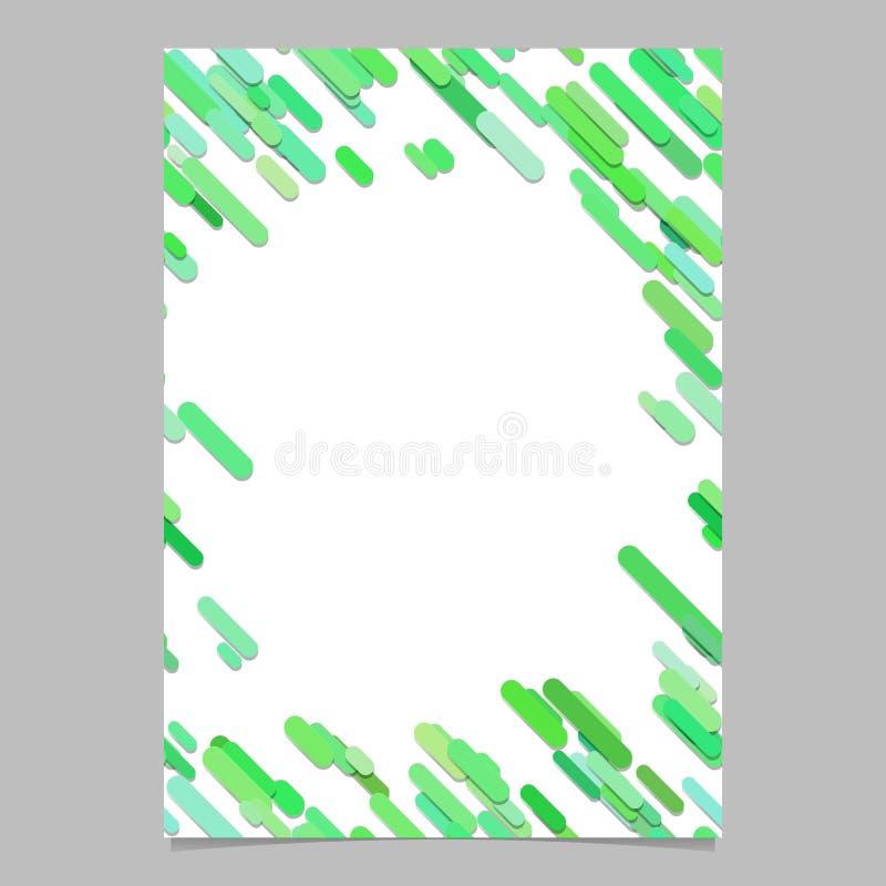 Gekleurd diagonaal rond gemaakt de vliegermalplaatje van het streeppatroon - digitaal paginaontwerp als achtergrond met strepen i vector illustratie