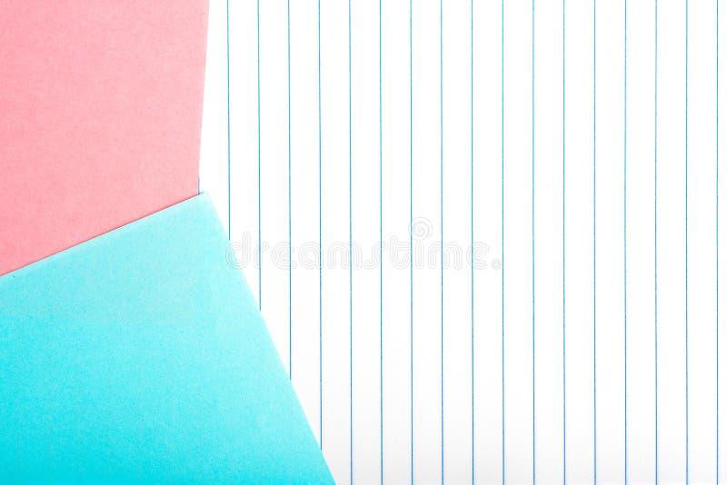 Gekleurd die document op verticale gestreept wordt geïsoleerd royalty-vrije stock afbeeldingen