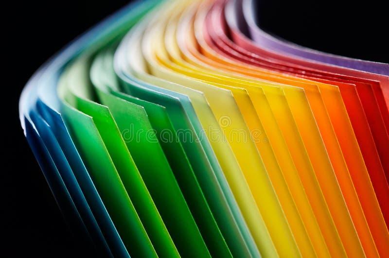 Gekleurd document royalty-vrije stock afbeelding