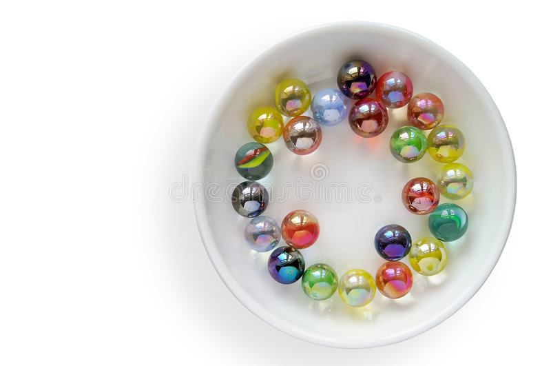 Gekleurd glasmarmer stock afbeelding