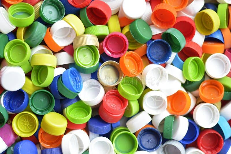 Gekleurd GLB op plastic fles nul afval recycling royalty-vrije stock foto