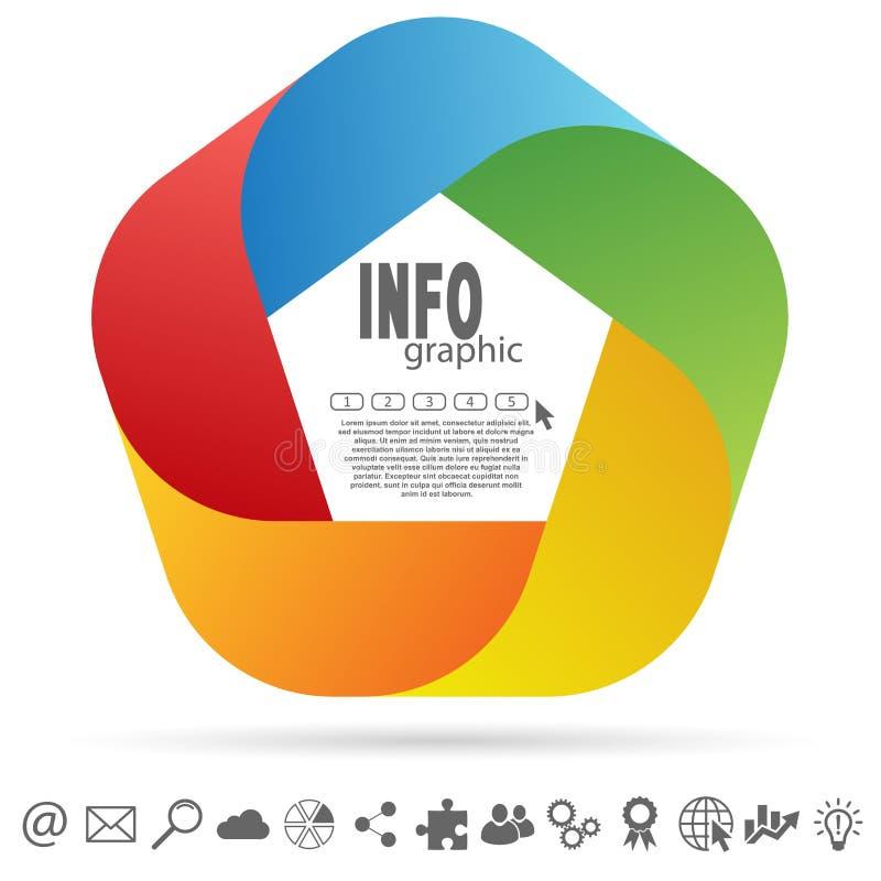 gekleurd informatie grafisch royalty-vrije illustratie